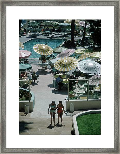 Camelback Inn Framed Print by Slim Aarons