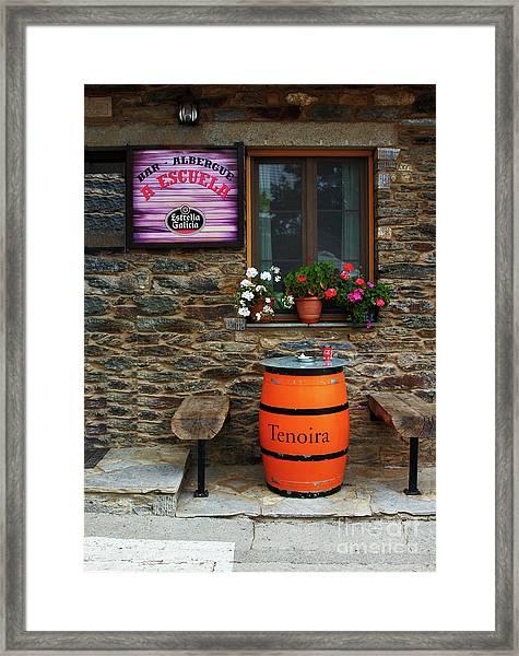 Camino Pilgrim's Repast Framed Print