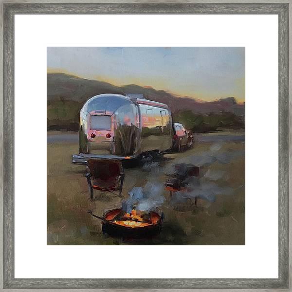 Campfire At Palo Duro Framed Print