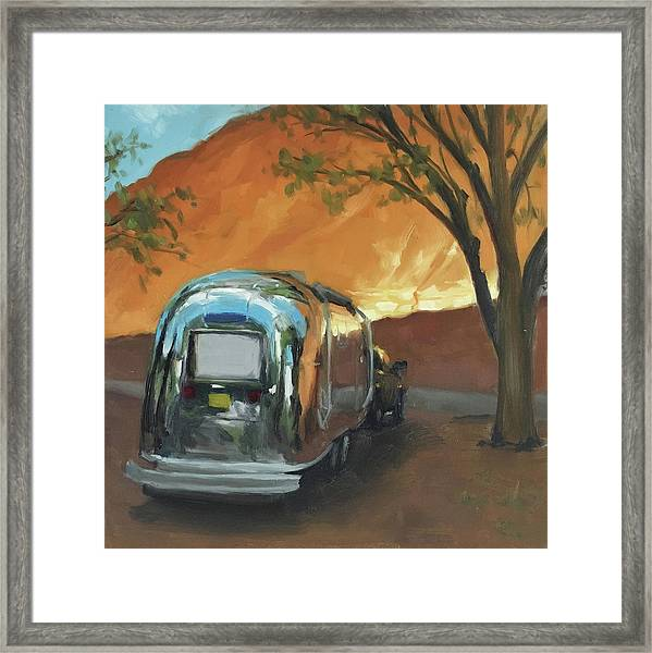 Camping At The Red Rocks Framed Print