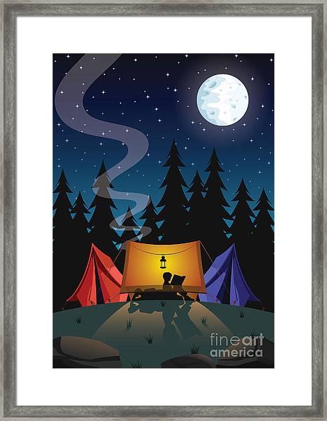 Camping Framed Print by Nikola Knezevic