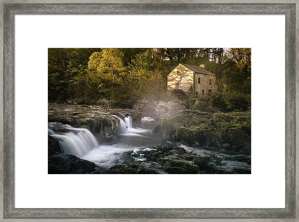 Framed Print featuring the photograph Cenarth Falls At Sunrise by Elliott Coleman