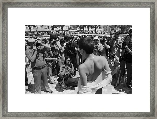 Cannes Film Festival Paparazzi In Action Framed Print