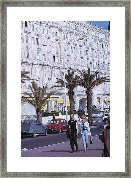 Cannes Framed Print by Slim Aarons