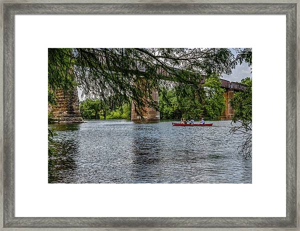 Canoeing Lady Bird Lake Framed Print