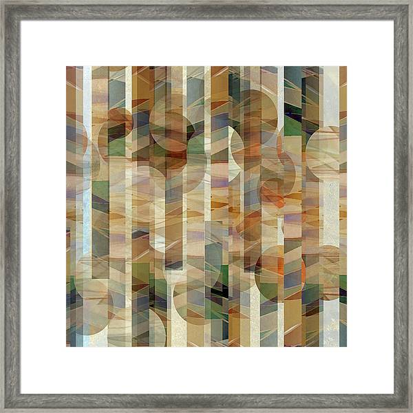 Canyon Circles And Stripes Framed Print