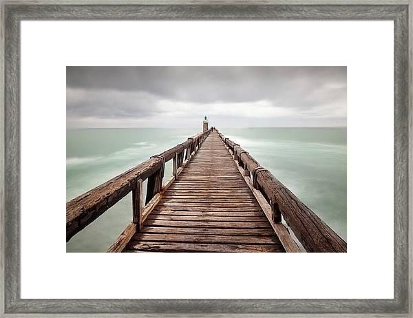 Capbreton Jetty, France Framed Print
