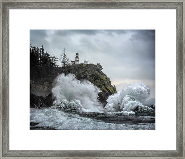 Cape Disappointment Chaos Framed Print