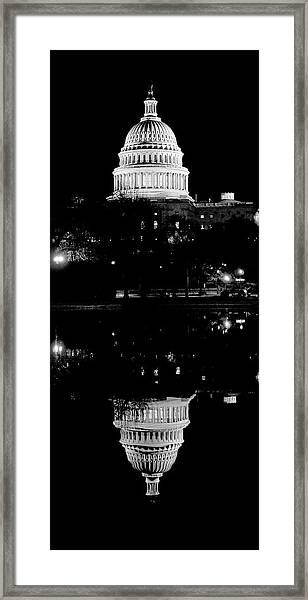 Capitol Upside Down Framed Print