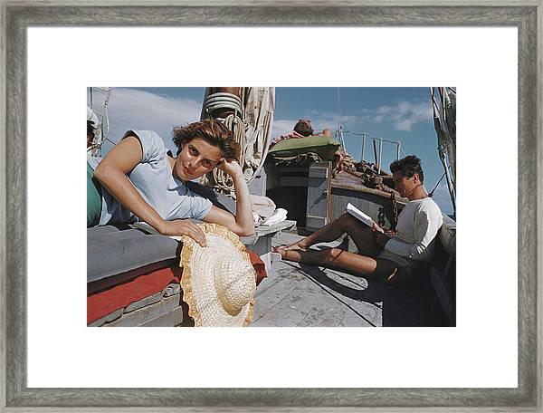 Capri Cruise Framed Print by Slim Aarons