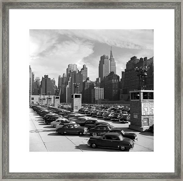 Car Park Framed Print