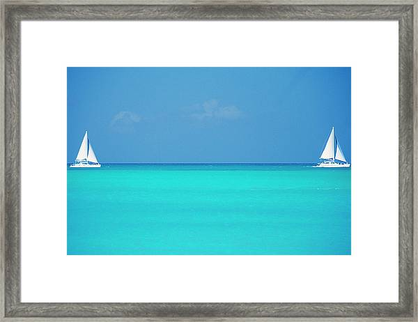 Caribbean, Turks And Caicos Islands Framed Print