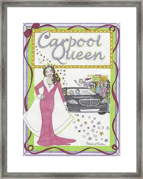 Carpool Queen Framed Print