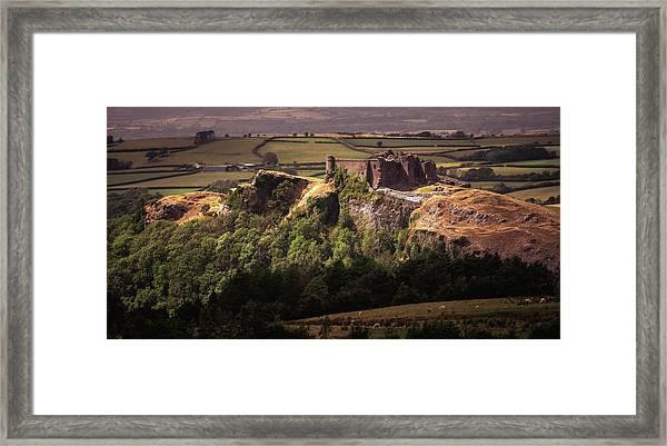 Framed Print featuring the photograph Carreg Cennen Castle by Elliott Coleman