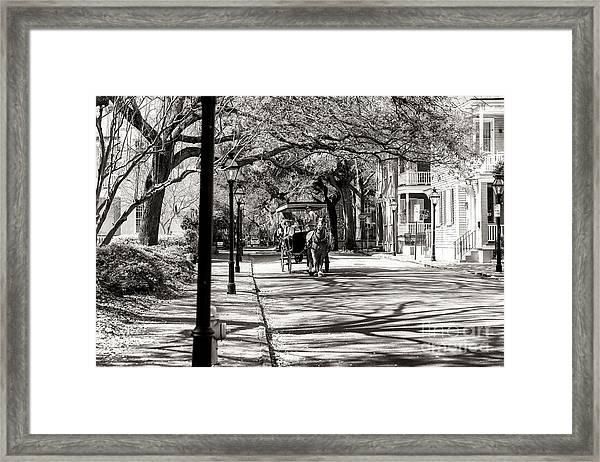 Carriage Ride Through Charleston Framed Print
