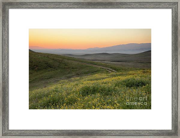 Carrizo Dawn Framed Print