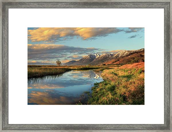 Carson Valley Sunrise Framed Print