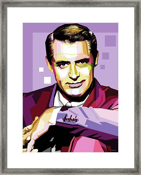 Cary Grant Pop Art Framed Print