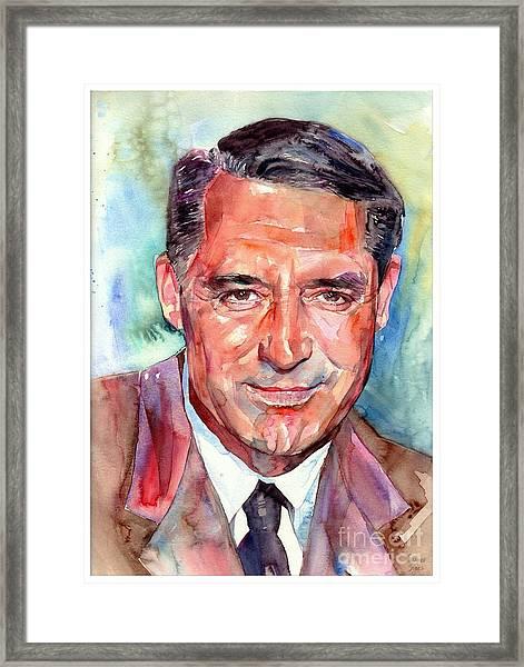Cary Grant Portrait Framed Print