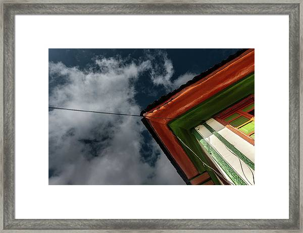 Framed Print featuring the photograph Casa Esquinera Cafetera by Juan Contreras
