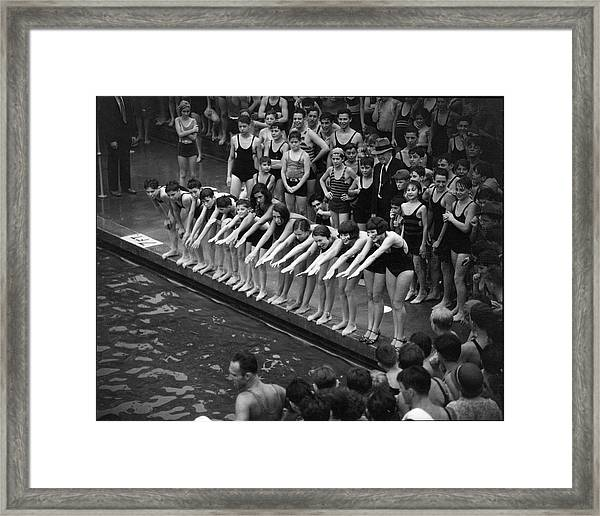 Cascades Pool, Jerome Ave. & 169th Framed Print