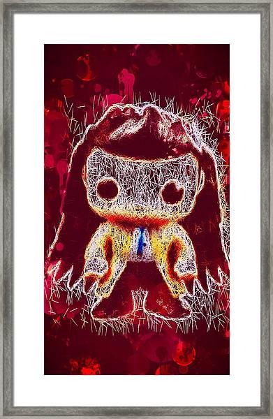 Castiel Supernatural Pop Framed Print