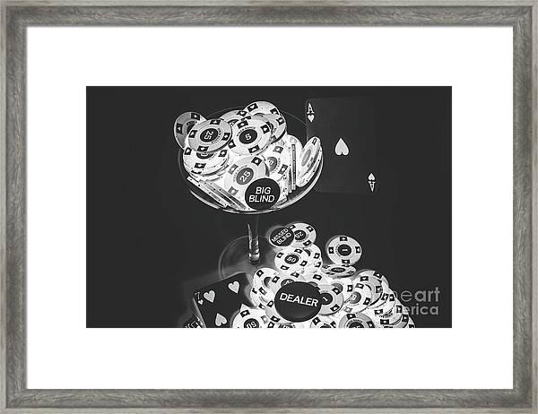 Casino Cocktail Framed Print