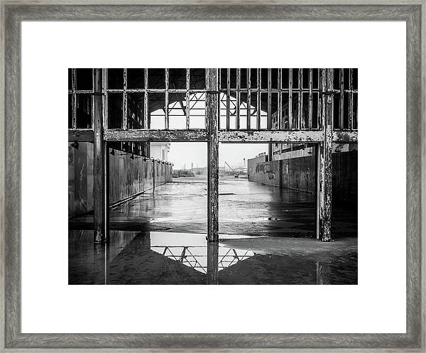 Framed Print featuring the photograph Casino Reflection by Steve Stanger
