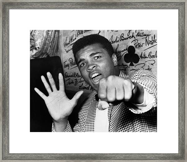 Cassius Clay Arrived In London For A Framed Print