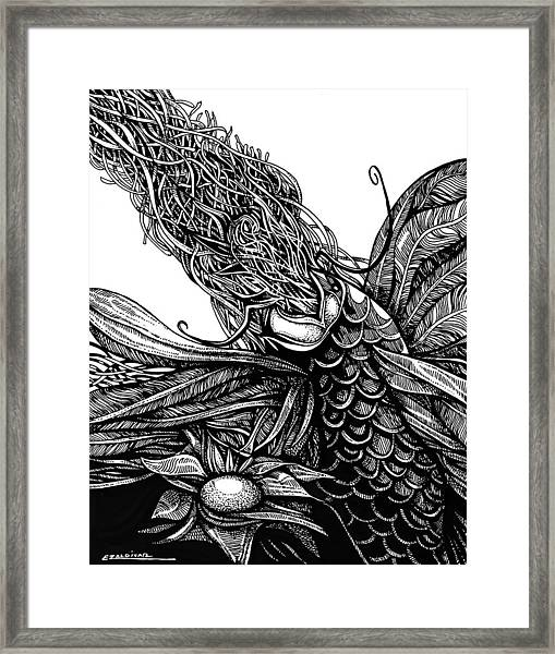 Castaway Fish Framed Print