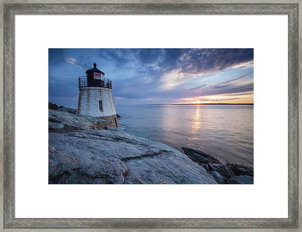Castle Hill Light Sunset Framed Print