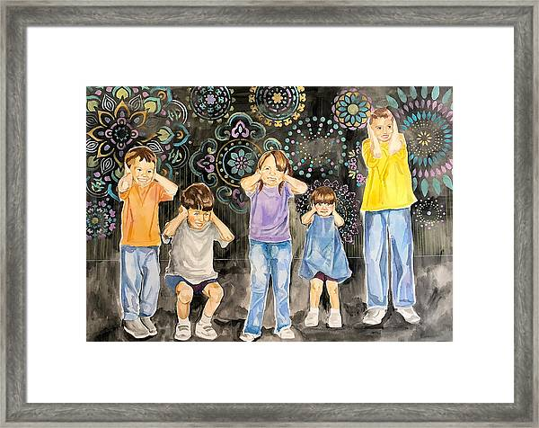 Cataclysmic Explosion Framed Print by Amoroqie Art