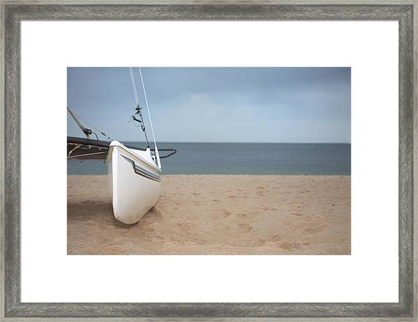 Catamaran Closeup Framed Print