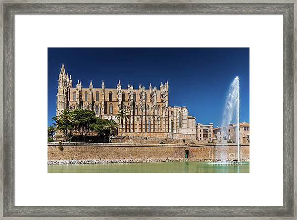 Catedral Basilica De Santa Maria De Mallorca, Spain Framed Print