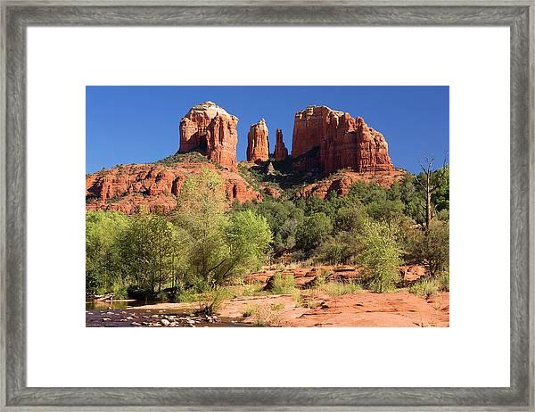Cathedral Rock At Oak Creek Framed Print
