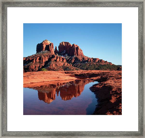 Cathedral Rock Reflection II Framed Print