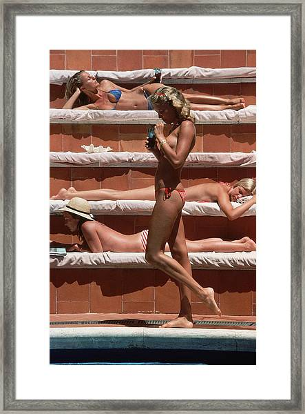 Catherine Wilke Framed Print by Slim Aarons