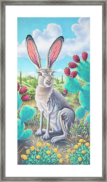 Catus Jack's Prickly Paradise Framed Print