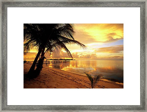 Cayman Islands, Little Cayman, Sunrise Framed Print