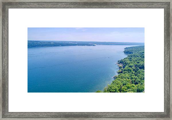 Cayuga From Above Framed Print