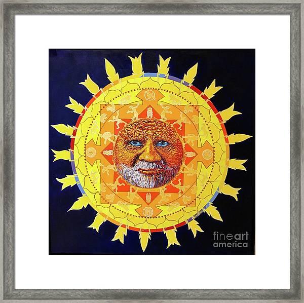 Cbs Sunday Morning Sun Mandala Framed Print