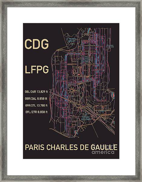 Cdg Paris Airport Framed Print