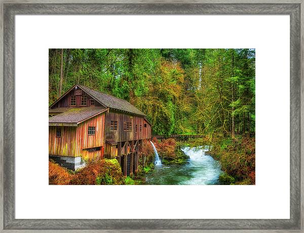 Framed Print featuring the photograph Cedar Creek Grist Mill by Dee Browning