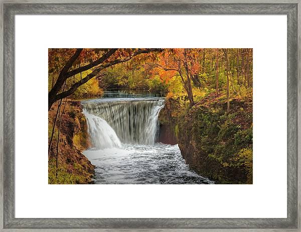 Cedarville Falls Framed Print