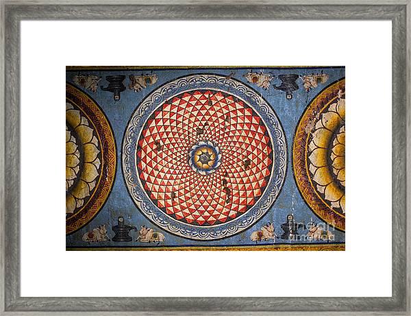 Ceiling Meenakshi Sundareswarar Temple Framed Print by Aleynikov Pavel