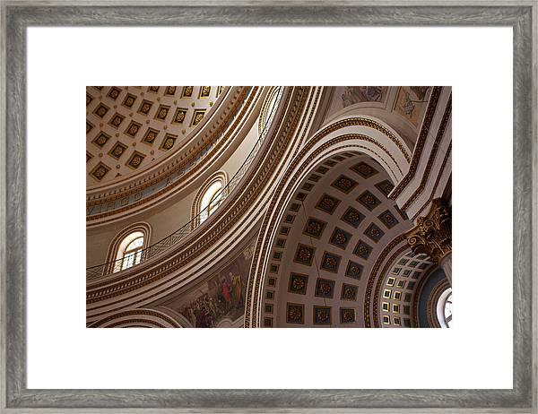 Ceiling Of Mosta Church,  Mosta Framed Print by Latitudestock - Emma Durnford