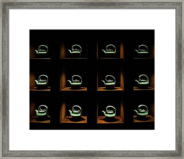 Framed Print featuring the photograph Celadon Tea Pots by William Dickman