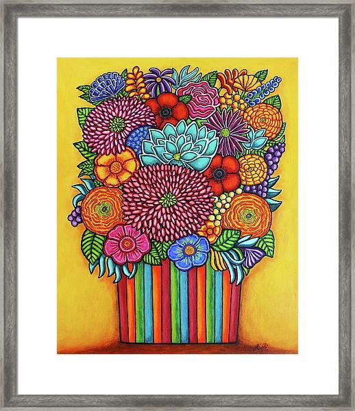 Celebration Bouquet Framed Print