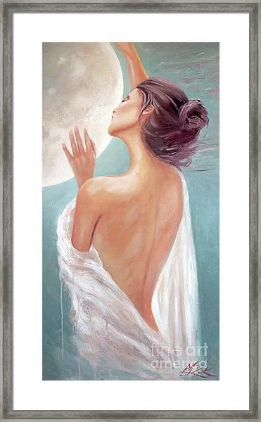 Celestial Moon Goddess Framed Print