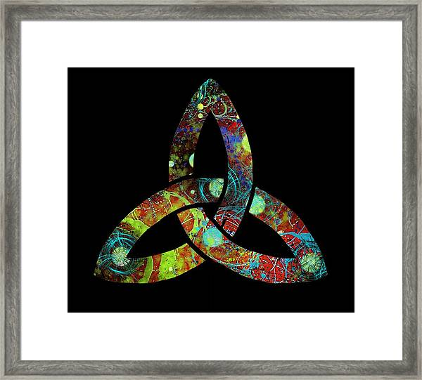 Celtic Triquetra Or Trinity Knot Symbol 1 Framed Print